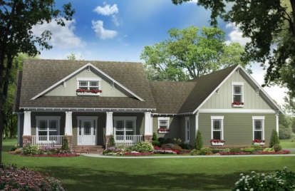 3 Bed, 2 Bath, 1900 Square Foot House Plan - #348-00085