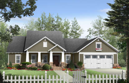 3 Bed, 2 Bath, 1901 Square Foot House Plan - #348-00086