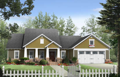 3 Bed, 2 Bath, 1924 Square Foot House Plan - #348-00089
