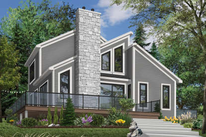 3 Bed, 2 Bath, 1516 Square Foot House Plan - #034-00054