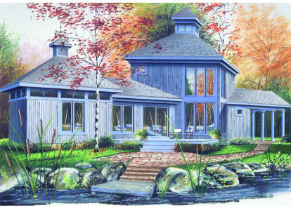 2 Bed, 1 Bath, 1152 Square Foot House Plan - #034-00055