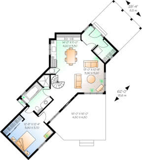 First Floor for House Plan #034-00055