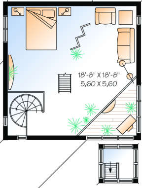 Second Floor for House Plan #034-00055