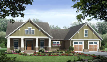 3 Bed, 2 Bath, 2067 Square Foot House Plan - #348-00117