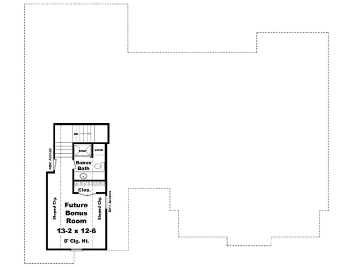Country Plan: 2,100 Square Feet, 4 Bedrooms, 2.5 Bathrooms