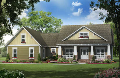 4 Bed, 2 Bath, 2100 Square Foot House Plan - #348-00120