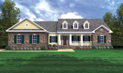3 Bed, 2 Bath, 2103 Square Foot House Plan - #348-00124