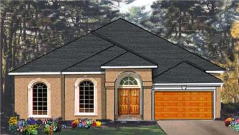 Ranch House Plan #033-00091 Elevation Photo