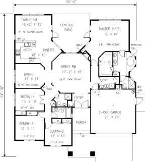 Main Floor for House Plan #033-00091