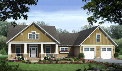 3 Bed, 2 Bath, 2108 Square Foot House Plan - #348-00126