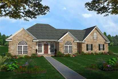3 Bed, 2 Bath, 2207 Square Foot House Plan - #348-00132