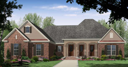 3 Bed, 2 Bath, 2216 Square Foot House Plan - #348-00133