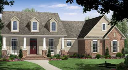 4 Bed, 3 Bath, 2250 Square Foot House Plan - #348-00135