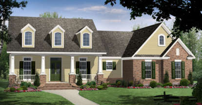 4 Bed, 3 Bath, 2266 Square Foot House Plan - #348-00139