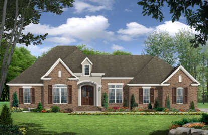3 Bed, 2 Bath, 2389 Square Foot House Plan - #348-00144