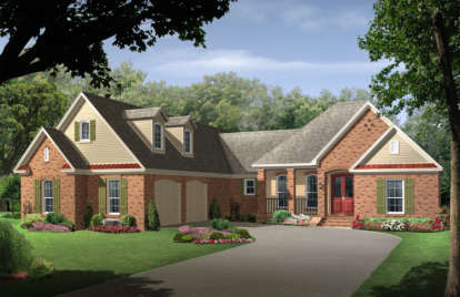 4 Bed, 3 Bath, 2400 Square Foot House Plan - #348-00145