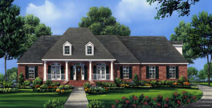 4 Bed, 3 Bath, 2491 Square Foot House Plan - #348-00149
