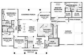 Main Floor for House Plan #348-00149