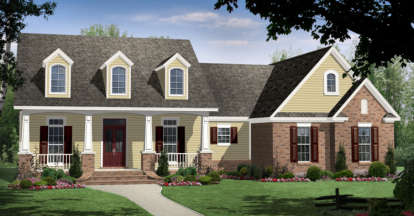 4 Bed, 3 Bath, 2516 Square Foot House Plan - #348-00152