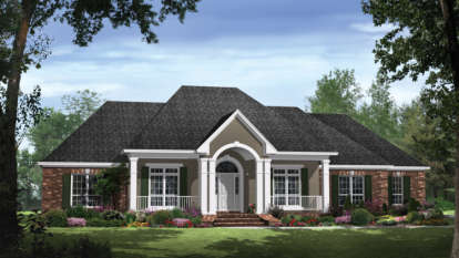 4 Bed, 3 Bath, 2769 Square Foot House Plan - #348-00160