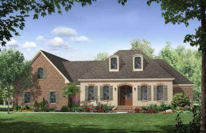 4 Bed, 3 Bath, 2851 Square Foot House Plan - #348-00161