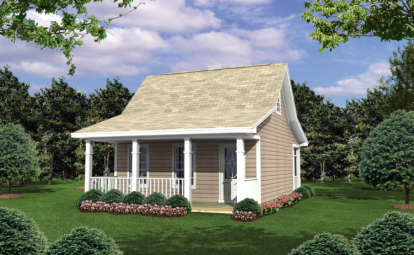 1 Bed, 1 Bath, 400 Square Foot House Plan - #348-00165