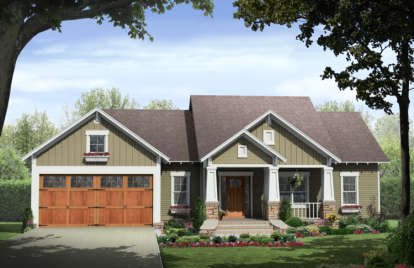 3 Bed, 2 Bath, 1509 Square Foot House Plan #348-00169