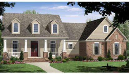 3 Bed, 2 Bath, 1800 Square Foot House Plan #348-00175