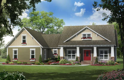 4 Bed, 2 Bath, 2118 Square Foot House Plan - #348-00184