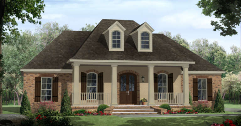 French Country House Plan #348-00188 Elevation Photo
