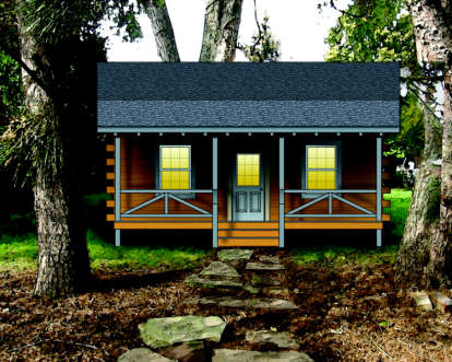 2 Bed, 0 Bath, 443 Square Foot House Plan #154-00002