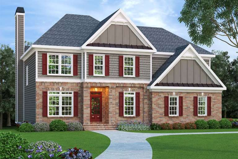 Traditional House Plan #009-00021 Elevation Photo