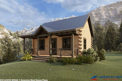 1 Bed, 1 Bath, 744 Square Foot House Plan - #154-00003