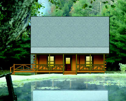 2 Bed, 1 Bath, 1173 Square Foot House Plan - #154-00006