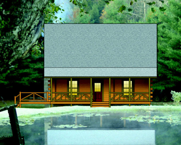 Cabin House Plan #154-00006 Elevation Photo