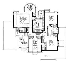 Second Floor for House Plan #402-00076