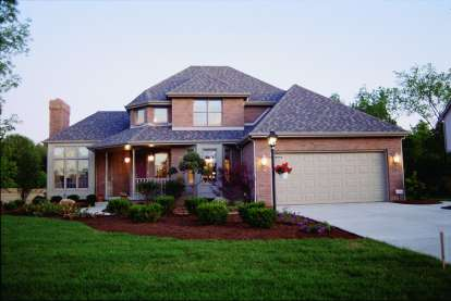 4 Bed, 2 Bath, 2276 Square Foot House Plan - #402-00084