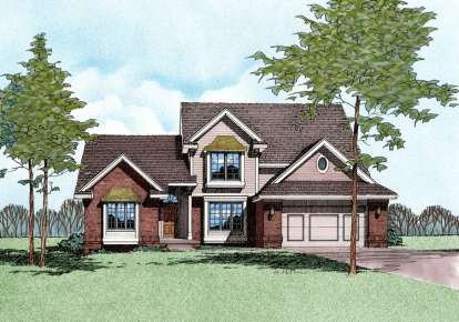 4 Bed, 2 Bath, 2226 Square Foot House Plan - #402-00137