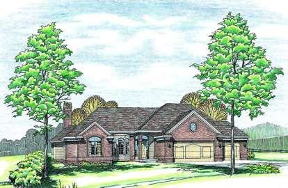 3 Bed, 2 Bath, 2149 Square Foot House Plan - #402-00158