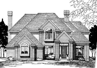 4 Bed, 2 Bath, 3160 Square Foot House Plan - #402-00170
