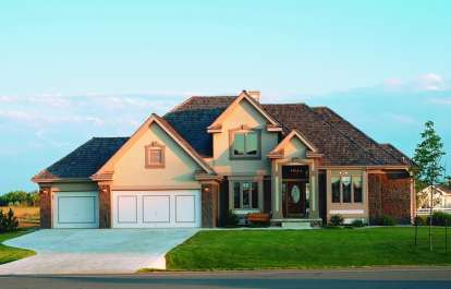 4 Bed, 2 Bath, 2579 Square Foot House Plan - #402-00198