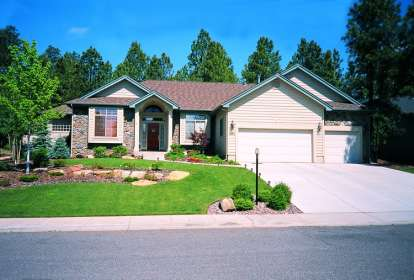 3 Bed, 2 Bath, 2276 Square Foot House Plan - #402-00203