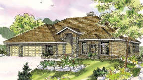 Ranch House Plan #035-00411 Elevation Photo
