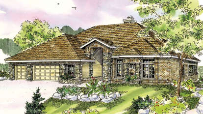 3 Bed, 2 Bath, 2810 Square Foot House Plan - #035-00411