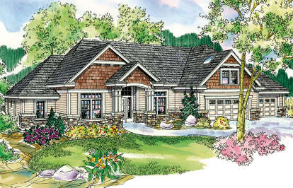 3 Bed, 2 Bath, 2689 Square Foot House Plan - #035-00414