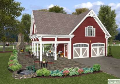 1 Bed, 1 Bath, 792 Square Foot House Plan - #036-00169