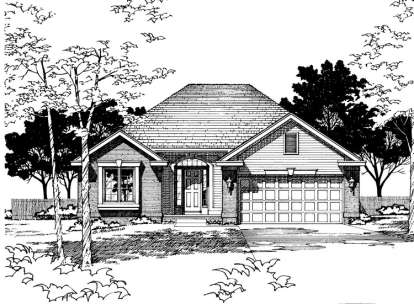 2 Bed, 2 Bath, 1499 Square Foot House Plan - #402-00247