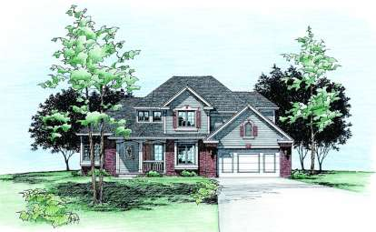 4 Bed, 2 Bath, 1976 Square Foot House Plan - #402-00276