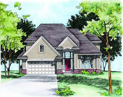 4 Bed, 2 Bath, 2403 Square Foot House Plan - #402-00313