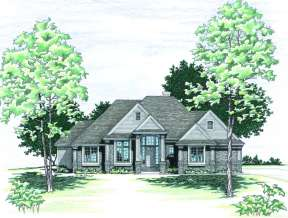 Ranch House Plan #402-00330 Elevation Photo